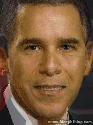 A morph of Barack Obama and George Bush