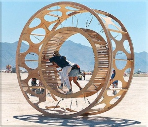 Hamster wheel. Source: http://linkdynamite.com/guide/?dc=happy10