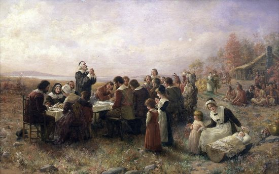 Thanksgiving, by Brownscombe. Source: http://en.wikipedia.org/wiki/File:Thanksgiving-Brownscombe.jpg