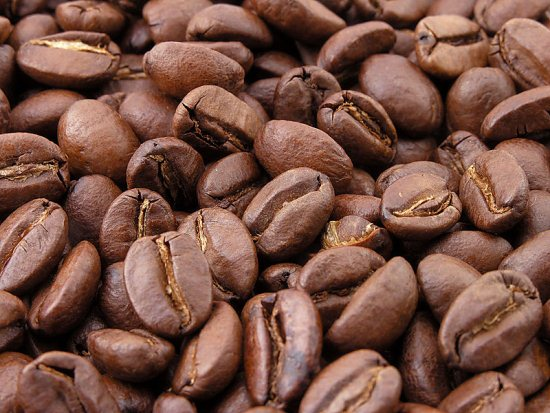 Roasted coffee beans. Source: http://commons.wikimedia.org/wiki/File:Roasted_coffee_beans.jpg
