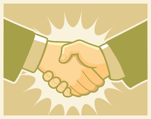Handshake, by Dragon Art. Source: http://www.dragonartz.net/2009/08/05/handshake-vector/