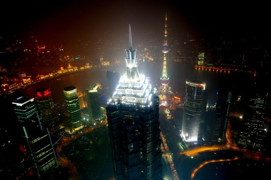Shanghai at night. Source: http://commons.wikimedia.org/wiki/File:Shanghai_from_the_SWFC.jpg