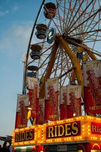 A ferris wheel at the Canadian National Exhibition in Toronto. Photo taken September 2009. Source: http://commons.wikimedia.org/wiki/File:Ferris_wheel_at_the_CNE_Labour_Day_weekend_(1).jpg