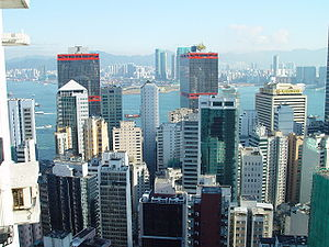 Hong Kong from Western District overlooking Ko...