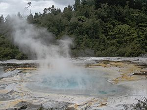 A hot pool on the Artist's Palette, Orakei Kor...