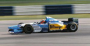 Johnny Herbert driving for Benetton Formula at...
