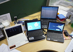 Some netbook computers we are testing at work ...