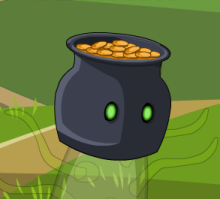 bucket of gold