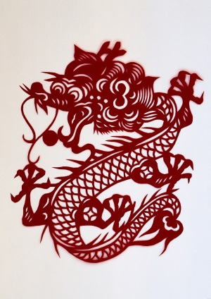 Chinese Dragon Paper Cut. Source: http://goway.com/blog/2010/10/01/china-celebrates-its-61st-anniversary/
