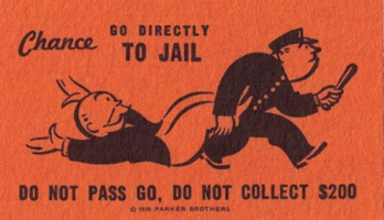 Monopoly: go to jail card