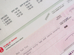Example of a pay check.