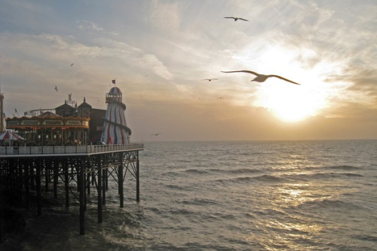 Low Sun at Palace Pier, Brighton