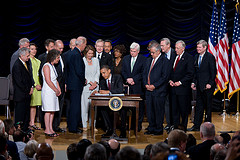 President Obama Signs the Dodd-Frank Wall Stre...