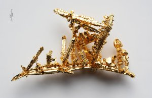 Gold crystals. Source: http://en.wikipedia.org/wiki/File:Gold-crystals.jpg