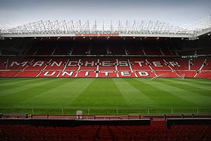 English: Old Trafford, given the nickname the ...