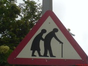 Geriatric crossing; Source: http://www.flickr.com/photos/rileyroxx/151985627/