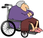 Senior Woman in a Wheelchair Clipart Picture; Source: http://picasaweb.google.com/lh/photo/gOxwPsXbw_HxnSy97R9J6g