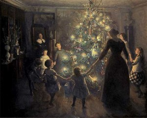 Happy Christmas, painted by Johansen Viggo. Source: Wikipedia
