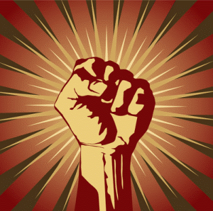 Totalitarian fist. Source: Seen on multiple sites.