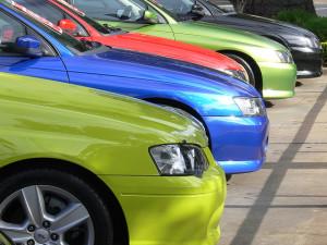used cars lot
